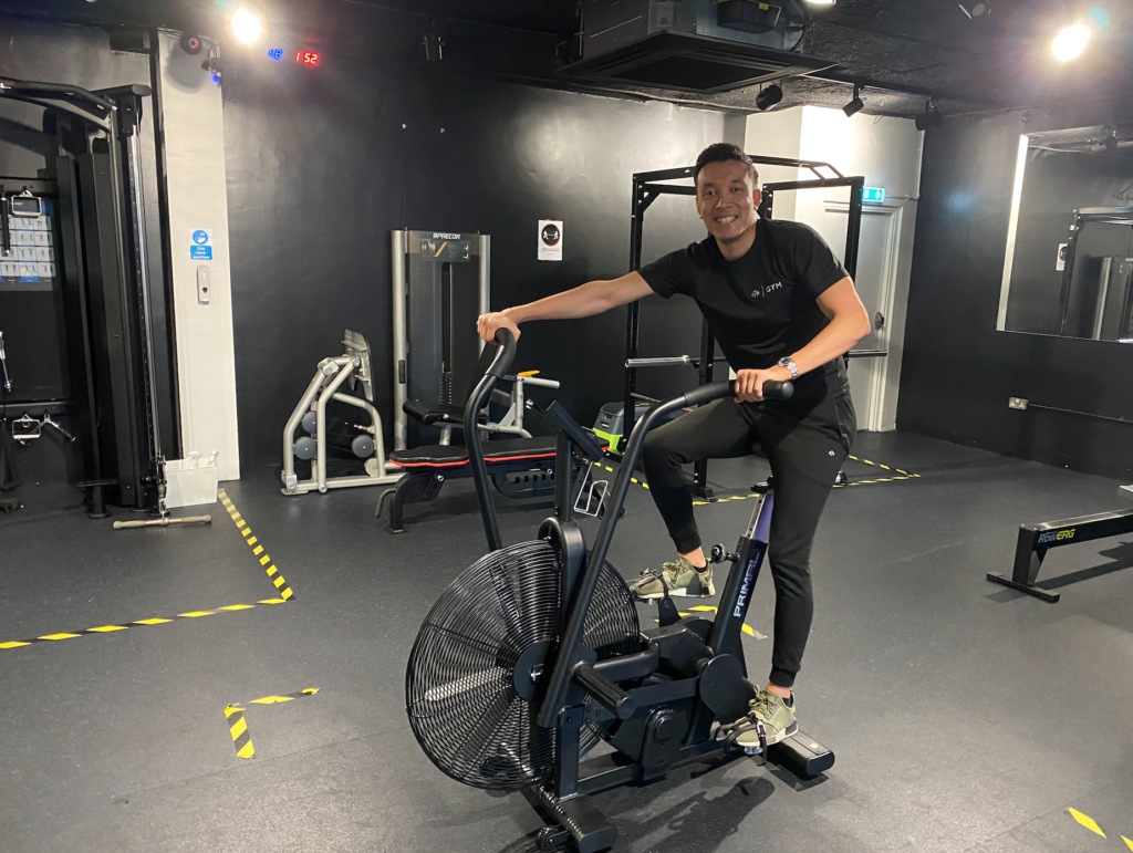 The air bike is a great way to read the results of the peak power output test